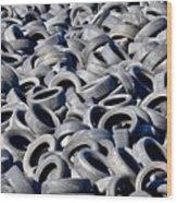 Used Tires Wood Print