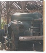 Used Up Truck Wood Print
