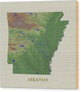 Usgs Map Of Arkansas Wood Print
