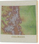 Usgs Map Of Colorado Wood Print