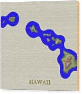 Usgs Map Of Hawaii Wood Print