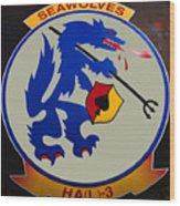 Usn Seawolves Logo Wood Print