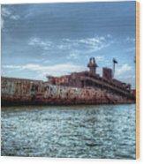 Usns American Mariner - Target Ship, Chesapeake Bay, Maryland Wood Print