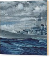 Uss Canberra Cag-2  Wood Print