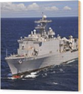 Uss Comstock Transits The Indian Ocean Wood Print