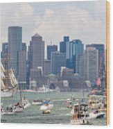 Uss Constitution Boston Cruise Wood Print by Susan Cole Kelly