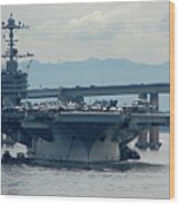 Uss George Washington Wood Print