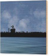 Uss John C. Stennis 1995 V1 Wood Print
