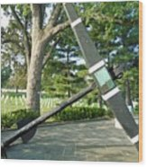 Uss Maine Anchor Wood Print