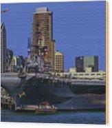 Uss Midway San Diego Ca Wood Print