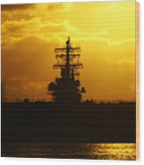 Uss Ronald Reagan Wood Print