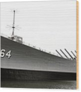 Uss Wisconsin - Port-side Wood Print