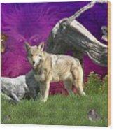 Ut Oh Wood Print