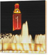 Ut Tower Championship Win Wood Print