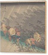 Utagawa Hiroshige    Shno Hakuuwhite Rain At Shno Wood Print