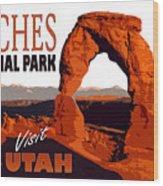 Utah, Arches, National Park Wood Print