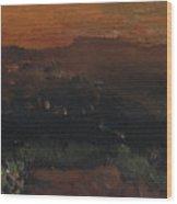 Utah Horizon Wood Print