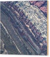 Utah Mountains High Altitiude Aerial Photo Wood Print