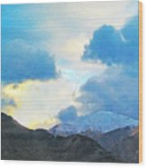 Utah Mountains Wood Print