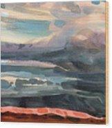 Utah Skyline Wood Print