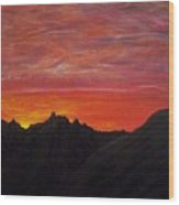 Utah Sunset Wood Print