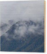 Ute Pass As Storm Clouds And Fog Roll In  Wood Print