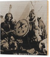Ute Tribe In Council Wood Print