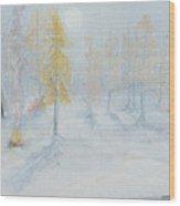 Ute Winter Camp Wood Print