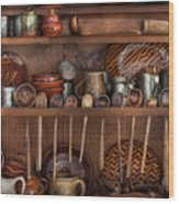 Utensils - What I Found In A Cabinet Wood Print
