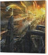 Utherworlds Battlestar Wood Print