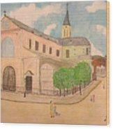Utrillo And Church Seasonal Change In Paris By Japanese Artist Wood Print