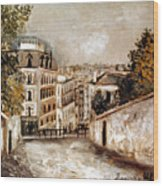 Utrillo: Montmartre, 20th C Wood Print