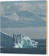 Uummannaq Ice Wood Print