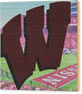 Uw Game Day Poster - Oil Wood Print