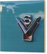 V 8 Wood Print