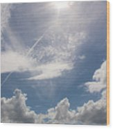 V Cloud Under The Sun  Wood Print