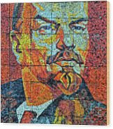 V. I. Ulyanov. Mosaic. Sochi Park. Wood Print