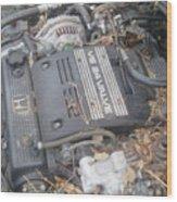 V6 24 Valve Wood Print