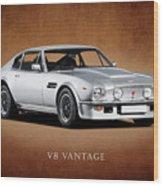 V8 Vantage Wood Print