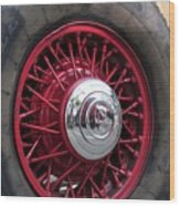 V8 Wheels Wood Print