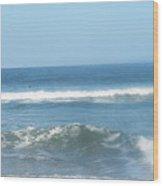 Va Beach Ocean Front Wood Print