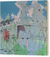 Vacant Vaca Barn Wood Print