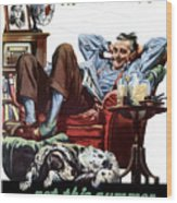 Vacation At Home -- Ww2 Poster Wood Print