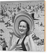 Vacation Montage, C.1930s Wood Print