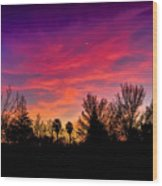 Vacaville Sunset Silhouette  Wood Print