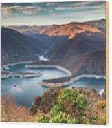 Vacha Lake Wood Print
