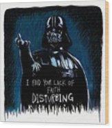 Vader Wood Print