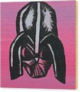 Vader In Pink Wood Print by Jera Sky