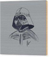 Vader Sketch Wood Print
