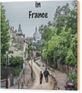 Vagabonds In France Book Cover Wood Print